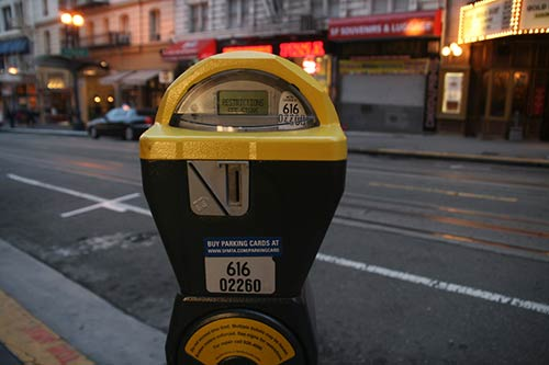 san francisco parking meter on the streets of sf